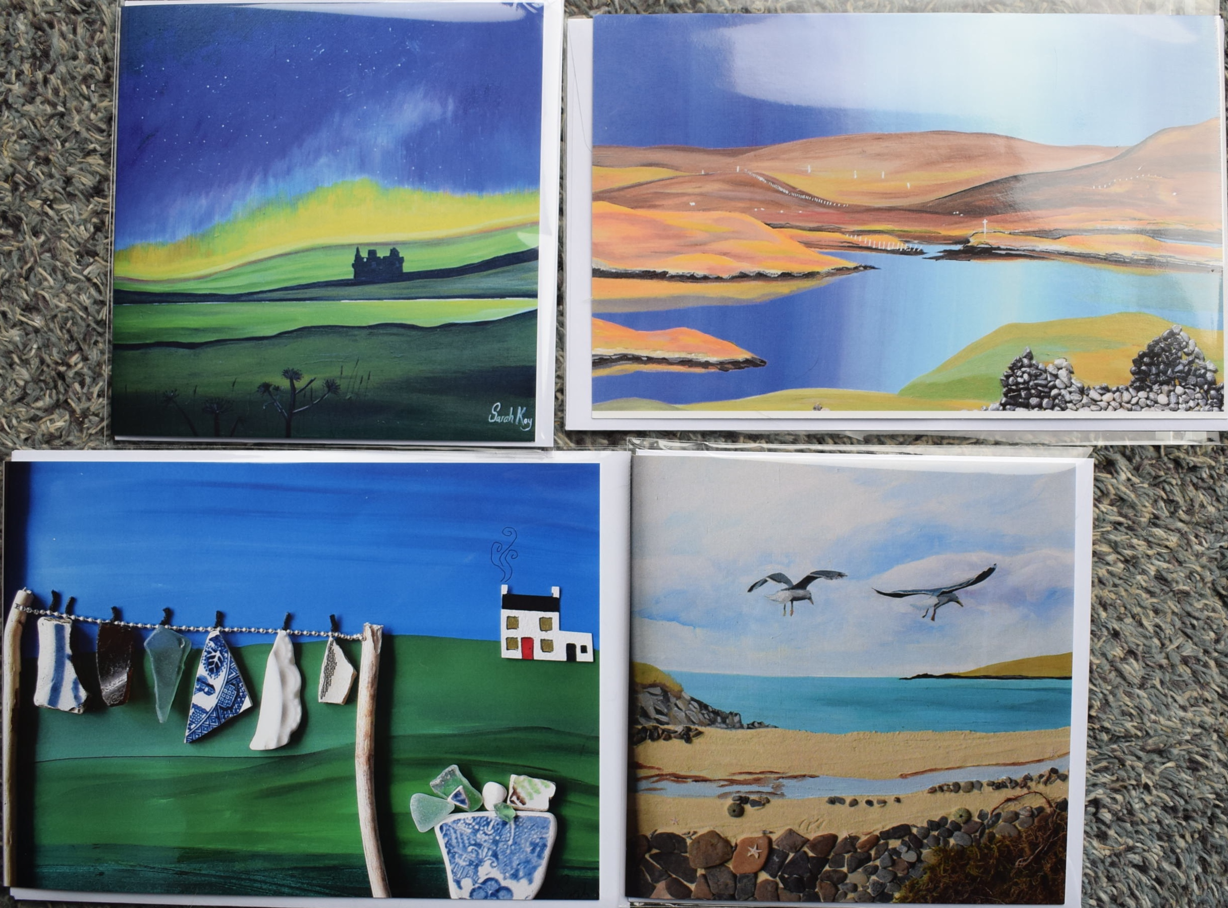 Greeting Cards Printed From Artwork By Shetland Artist Sarah Kay