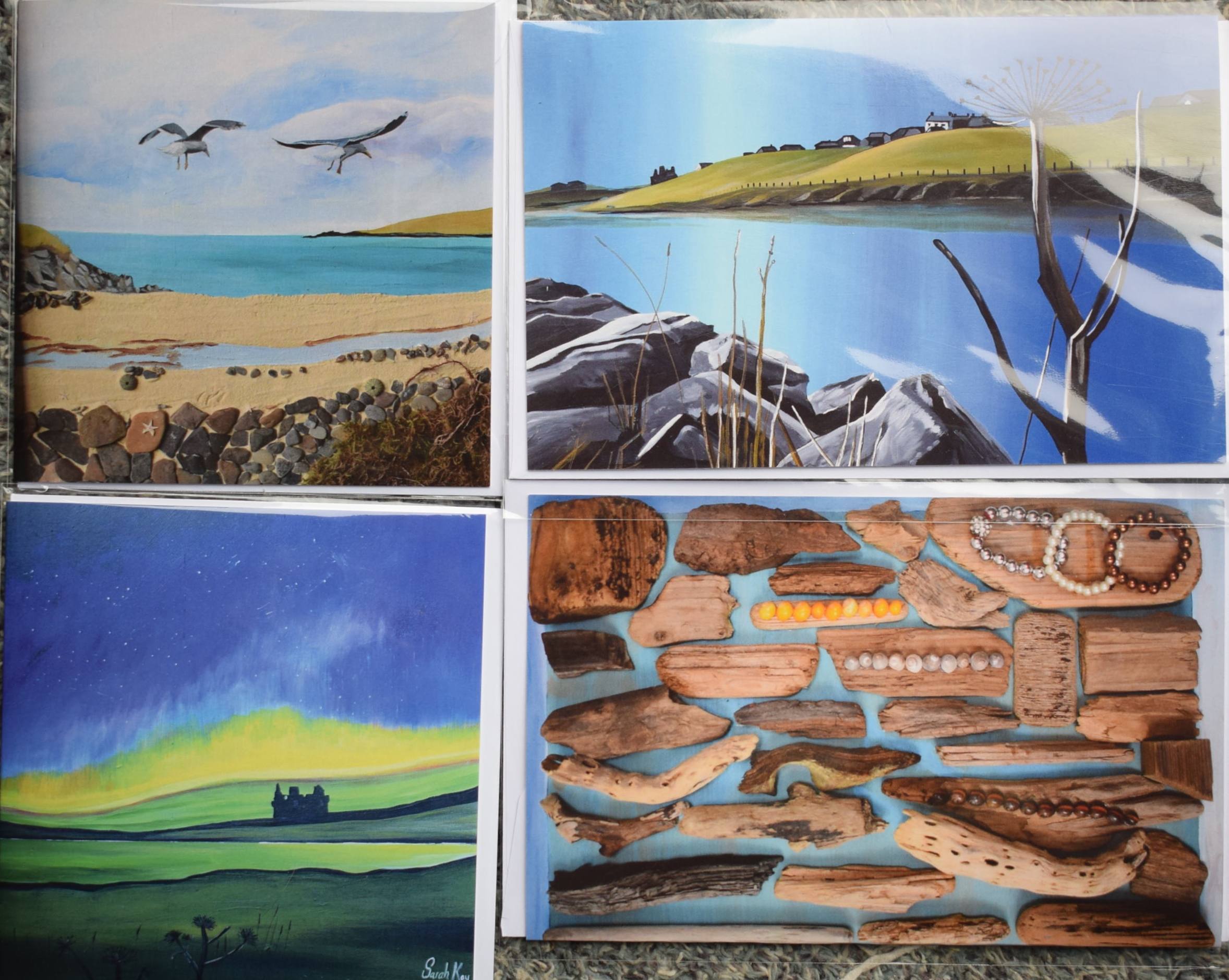 Greetings Cards Printed From Artwork By Shetland Artist Sarah Kay