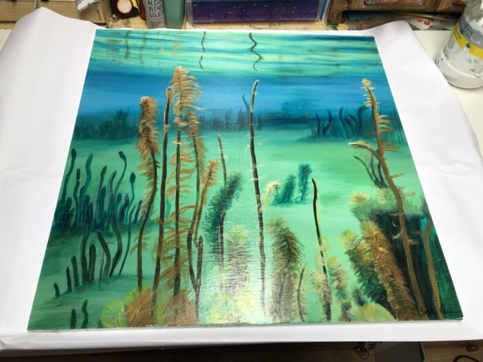 underwater painting from Shetland waters