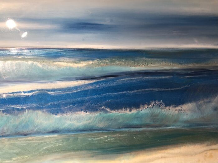 close up of seascape